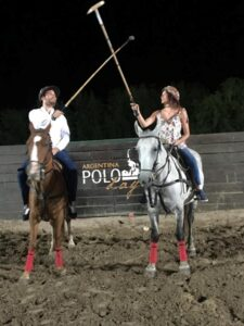couple at arena polo field