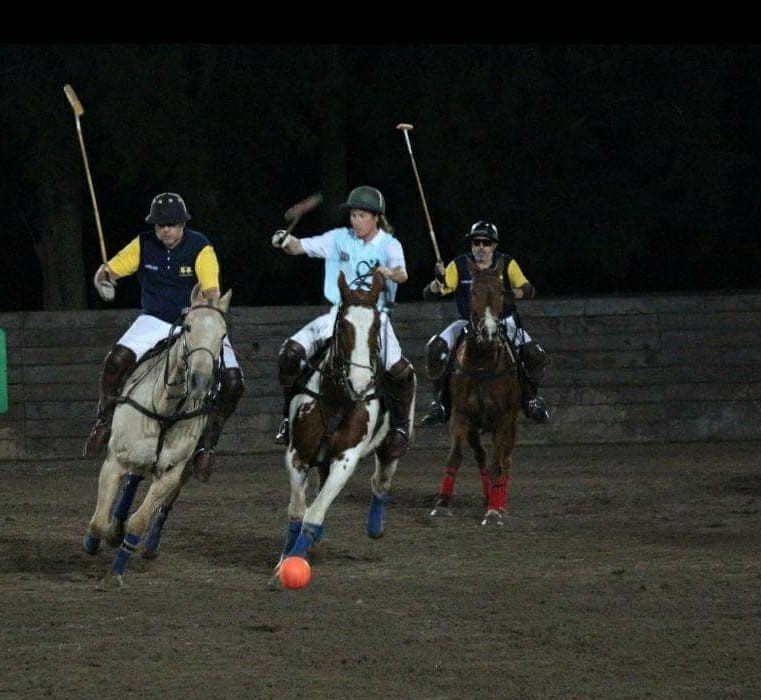 polo match at night